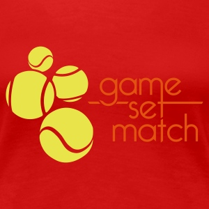 TENNIS: GAME SET MATCH - Vrouwen Premium T-shirt