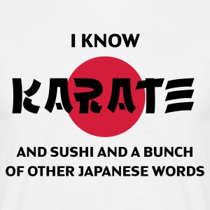 I know Karate (2c, ENG) - Men's T-Shirt