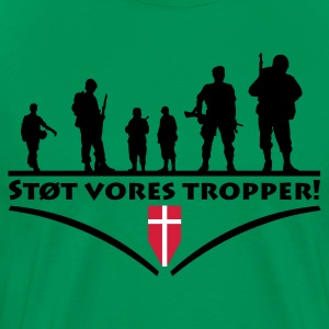 Kakigrøn Support Our Troops T-shirts - Herre premium T-shirt