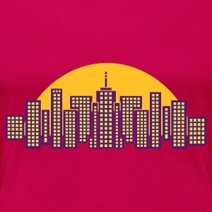 Light pink City Skyline Manhattan Women's Tees - Women's Premium T-Shirt