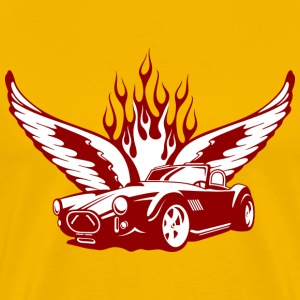 Gelb Wings at Car - feuerrot T-Shirts - Premium T-skjorte for menn