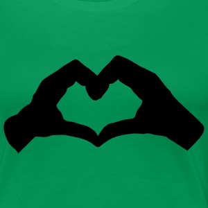 Kelly green HandHerz2 T-Shirts - Frauen Premium T-Shirt