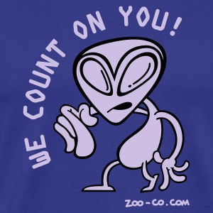 Royal blue Alien Recruiter Men's Tees - Men's Premium T-Shirt