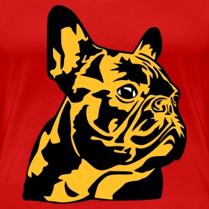 Stereo rot French Bulldog T-Shirts - Frauen Premium T-Shirt