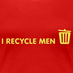 I Recycle Men 1 (1c, NEU) - Women's Premium T-Shirt