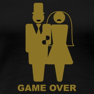 Svart Game Over T-shirts - Premium-T-shirt dam