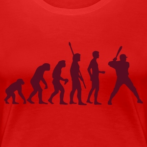 Stereo rot evolution_baseball_1c T-Shirts - Frauen Premium T-Shirt