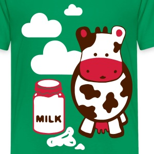 Kelly green kuh milk Kinder T-Shirts - Teenager Premium T-Shirt