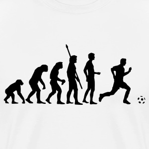 evolution_fussball T-skjorter - Premium T-skjorte for menn
