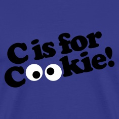 Royal blue C is for Cookie Men's T-Shirts