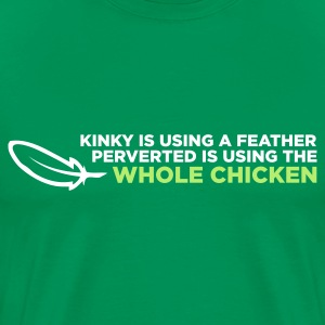 Kinky Feather 2 (ENG, 2c) - Mannen Premium T-shirt