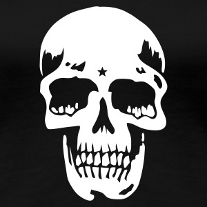 Svart skull pirate death heavy metal T-skjorter - Premium T-skjorte for kvinner