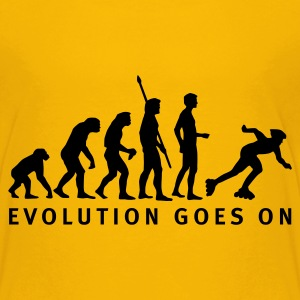 Gelb evolution_inliner_b Kinder T-Shirts - Teenager Premium T-Shirt