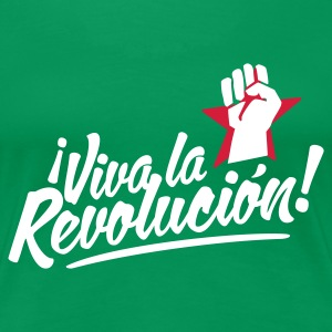 Kelly green revolution fist T-Shirts - Frauen Premium T-Shirt