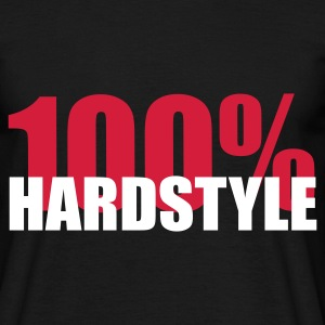 Black 100% Hardstyle Men's Tees - Men's T-Shirt