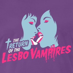 Indigo return of the lesbo vampires T-Shirts - Männer Premium T-Shirt