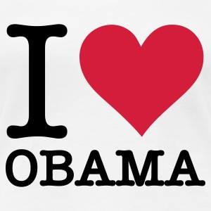 White I Love Obama (2c, NEU) Women's T-Shirts - Women's Premium T-Shirt