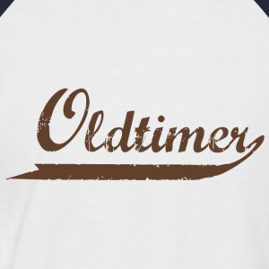 Weiß/navy Oldtimer / Rentner T-Shirts - T-shirt baseball manches courtes Homme