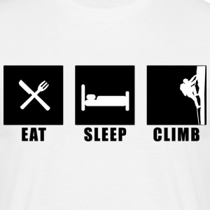 Sand eat sleep climb T-Shirts - Männer T-Shirt