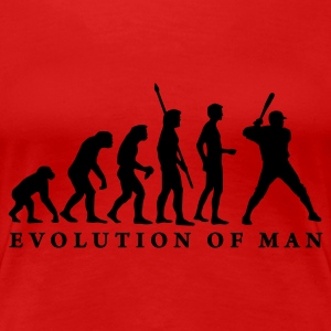 Stereo rot evolution_baseball_b_1c T-Shirts - Frauen Premium T-Shirt