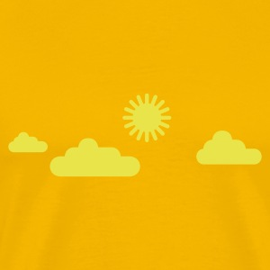 sun and clouds - Men's Premium T-Shirt