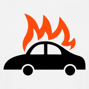 burning car - Men's T-Shirt
