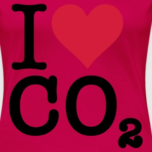 Light pink I Love CO2 (2c, NEU) T-shirts - Dame premium T-shirt