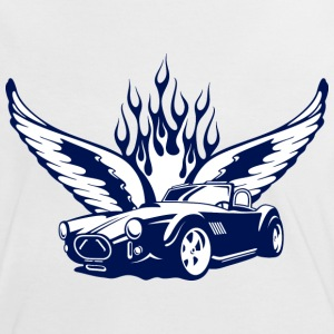 Weiß/navy wings_at_car_ultramarin T-Shirts - Vrouwen contrastshirt