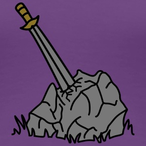 Holy Sword In Stone T-Shirts - Women's Premium T-Shirt