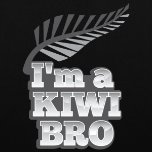 I'm a KIWI BRO with silver fern New Zealand Bags & Backpacks - Tote Bag