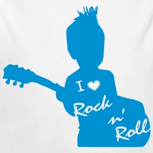 i love rock and roll bleu - Body bébé bio manches longues