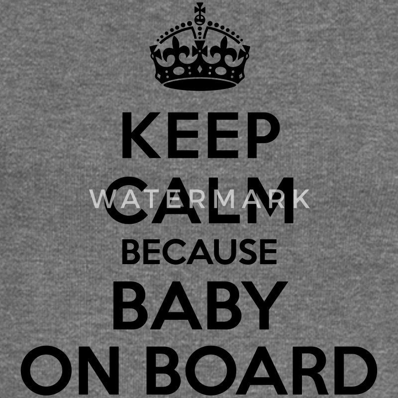 Keep calm because baby on board Sweat-shirts - Pull Femme col bateau de Bella