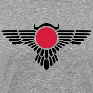 Winged Globe, symbol of the perfected soul T-shirts - Herre premium T-shirt