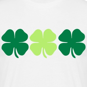 3 4 leaf clovers Tee shirts - T-shirt Homme