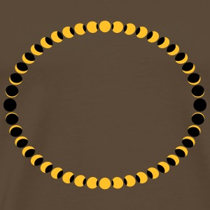 Moon Phases Circle T-shirts - Herre premium T-shirt