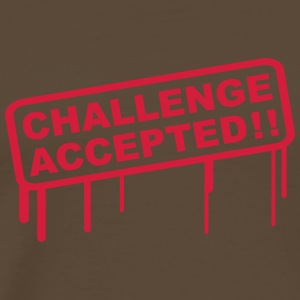 Challenge Accepted Stamp T-Shirts - Men's Premium T-Shirt