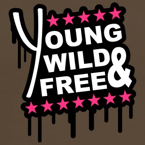 Young Wild And Free Graffiti T-shirts - Mannen Premium T-shirt