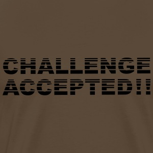 Challenge Accepted Stripes Design T-Shirts - Men's Premium T-Shirt