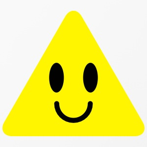 cute funny yellow triangle smiley smiling Phone & Tablet Cases - iPhone 4/4s Hard Case