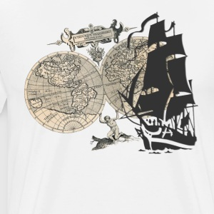 Ship + Map T-Shirts - Männer Premium T-Shirt