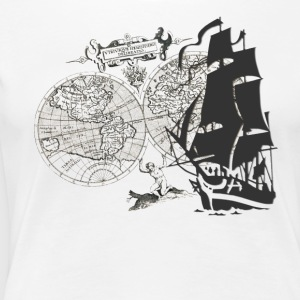 Ship + Map T-shirts - Premium-T-shirt dam