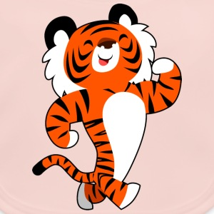 Cute Strong Cartoon Tiger by Cheerful Madness!! Accessories - Baby Organic Bib