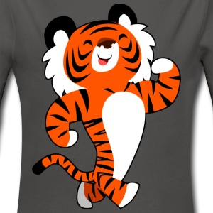 Cute Strong Cartoon Tiger by Cheerful Madness!! Hoodies - Baby One-piece