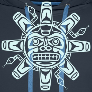 Native american sun, tribal art symbol, indians, Hoodies & Sweatshirts - Men's Premium Hoodie