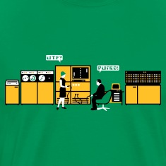 Moss green retro computer T-Shirts