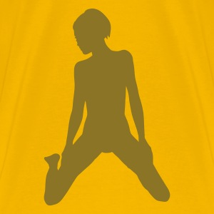 Jaune babe on her knees T-shirts - T-shirt Premium Homme