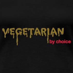Sort Vegetarian by choice T-shirts - Dame premium T-shirt