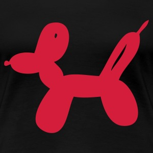 Schwarz Balloon-Dog T-Shirts - Frauen Premium T-Shirt