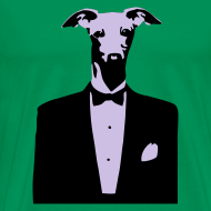 Design ~ Mens Dog Tuxedo T-shirt