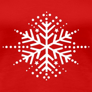 Dark red snow flake T-Shirts - Women's Premium T-Shirt